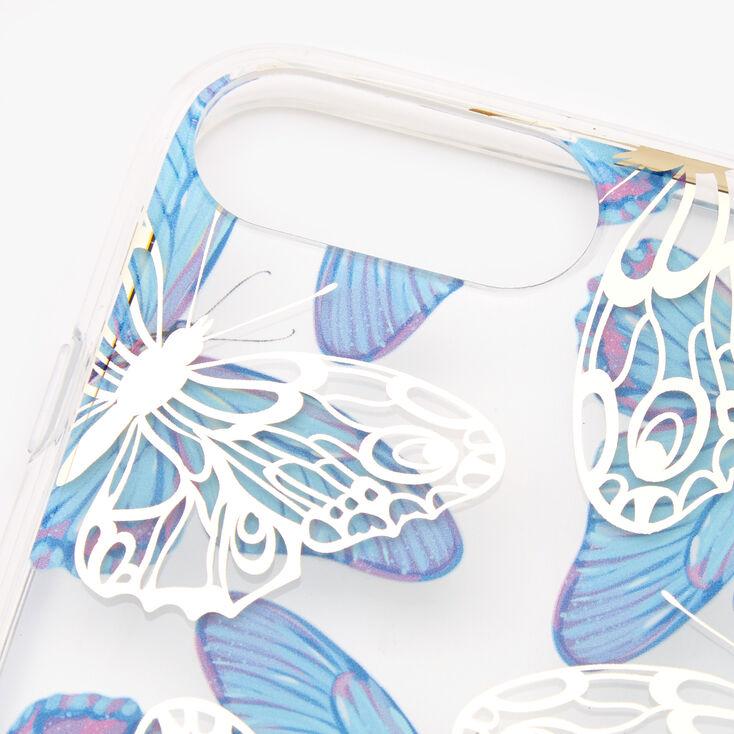 Blue & White Butterflies Phone Case - Fits iPhone 6/7/8 Plus,