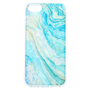 Turquoise Marble Shell Phone Case - Fits Iphone 6/7/8/SE,