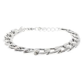Silver Chain Link Bracelet,