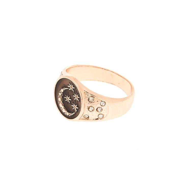 Rose Gold Night Sky Ring,