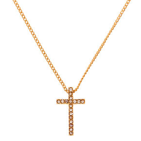Gold Cross Pendant Necklace,