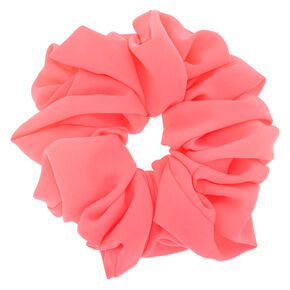 Large Hair Scrunchie - Neon Pink,