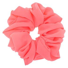 Large Hair Scrunchie - Neon Pink,