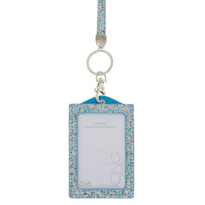 Glitter Lanyard and ID Holder - Blue,