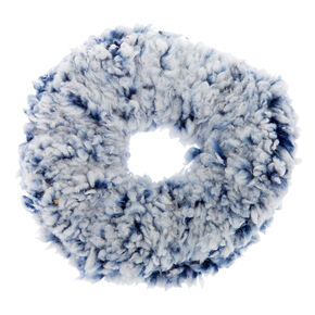 Teddy Hair Scrunchie - Blue,