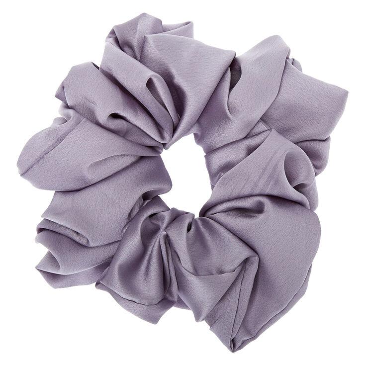 Giant Satin Hair Scrunchie - Gray,