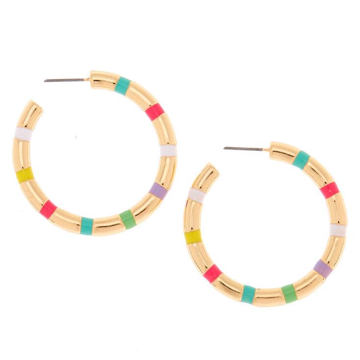 Gold 40MM Hoop Earrings,