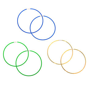 Mixed Metal 60MM Neon Hoop Earrings - 3 Pack,