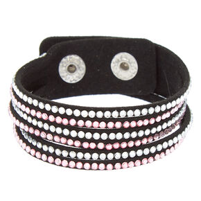 Studded Layered Statement Bracelet - Pink,