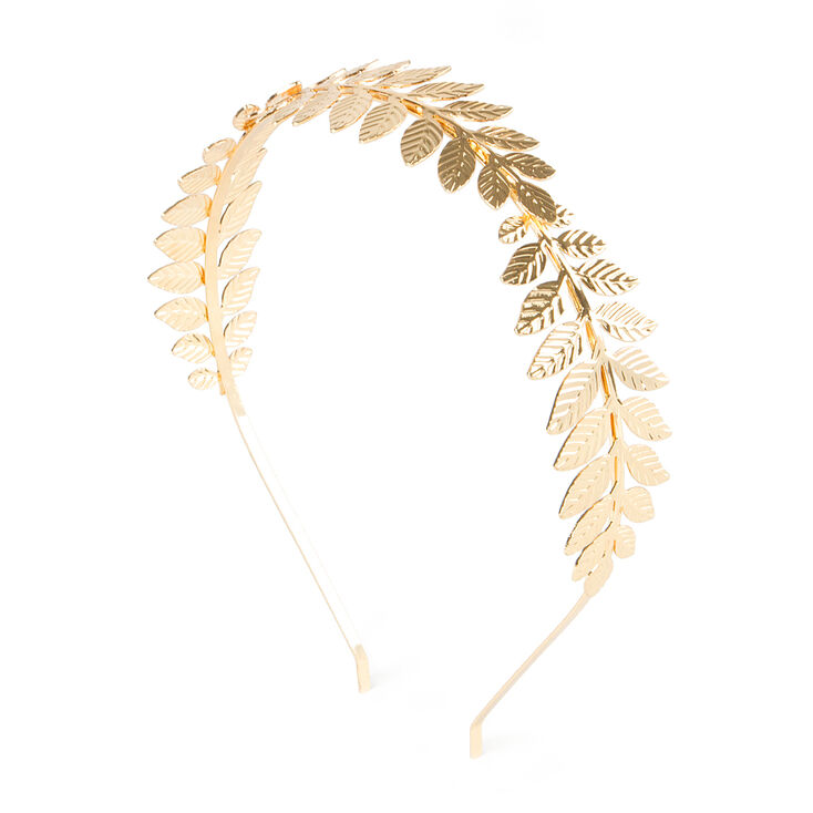 Branches of Gold Leaves Headband,