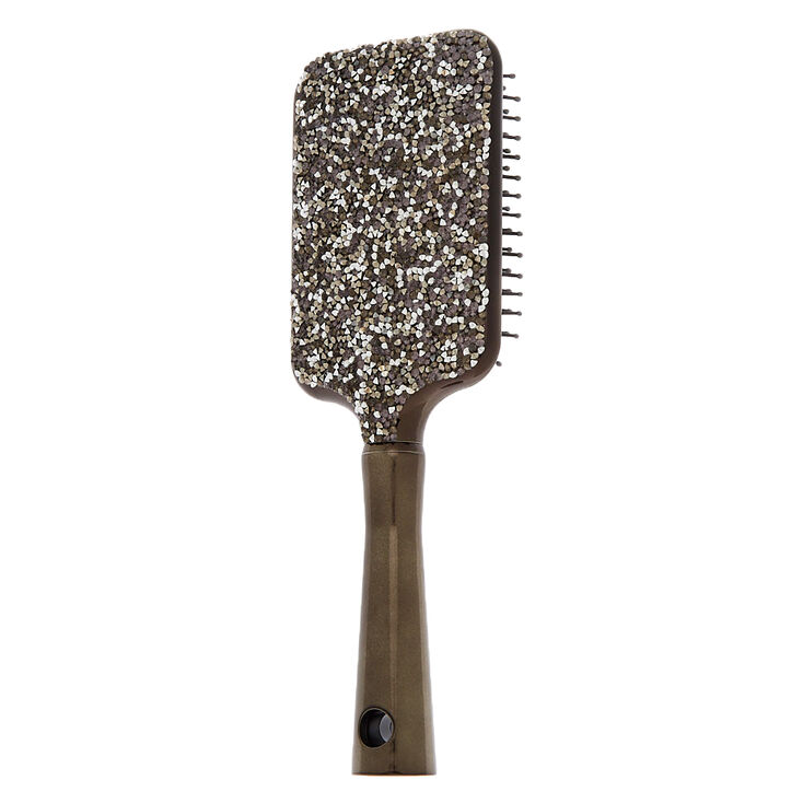 Bling Chrome Paddle Hair Brush,