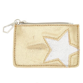 Star Zip Coin Purse - Gold,