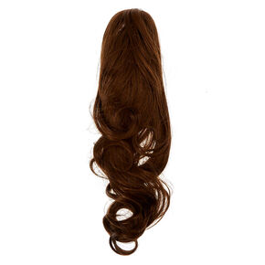 Faux Hair Ponytail Hair Claw - Brunette,