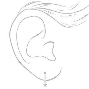 Sterling Silver Swarovski® Elements Star Drop Earrings,