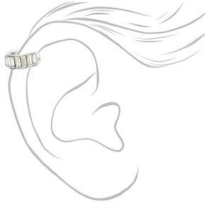 Silver Baguette Crystal Ear Cuff,