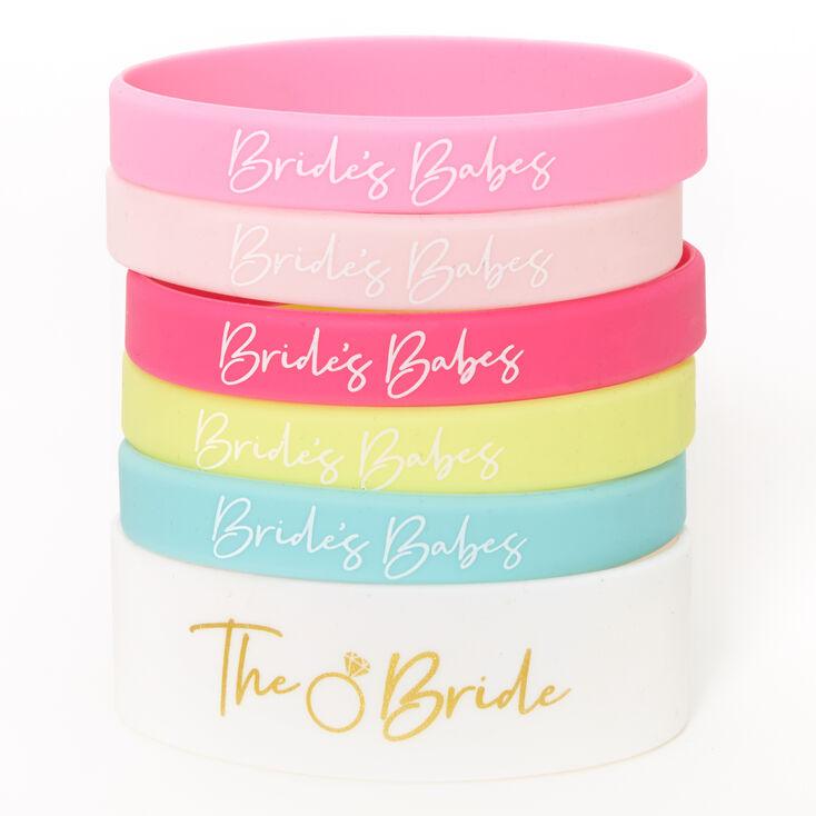 Bachelorette Rubber Bracelet Set - 6 Pack,