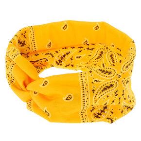 Bandana Twisted Headwrap - Yellow,