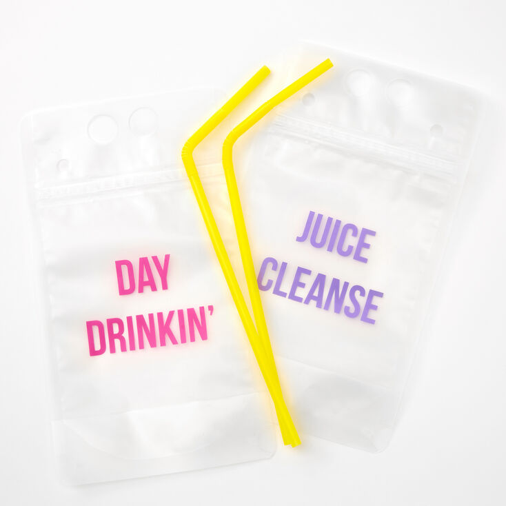 Day Drinkin' & Juice Cleanse Drink Pouches - 2 Pack,