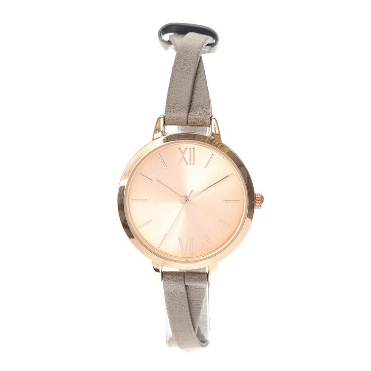 Brown Crossover Strap Watch,