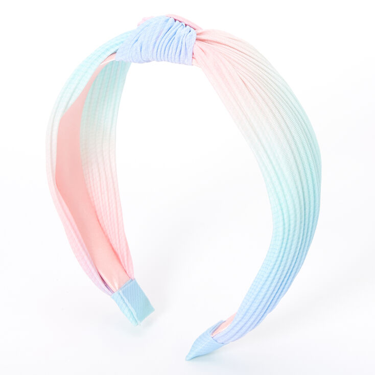 Pleated Pastel Ombre Knotted Headband,