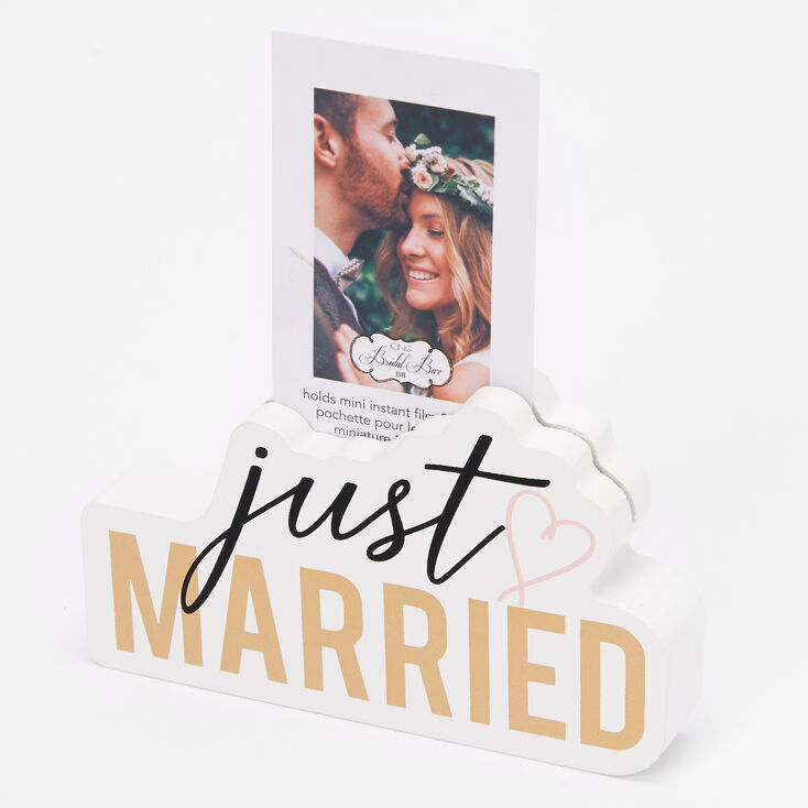 Just Married Instax Photo Block - White,