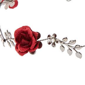 Burgundy Bloom Flower Crown,
