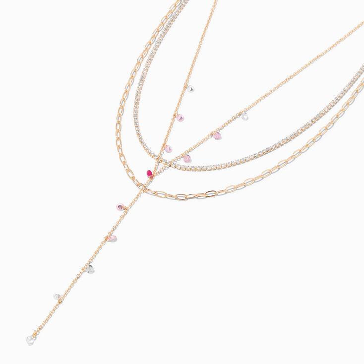 """Hematite 1.5"""" Crystal Drop Earrings - Red,"""