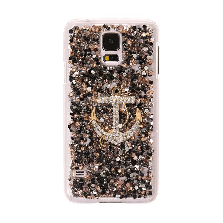 Crystal Embellished Anchor Phone Case,