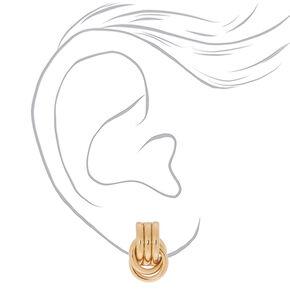"""Gold 1"""" Chain Link Drop Earrings,"""