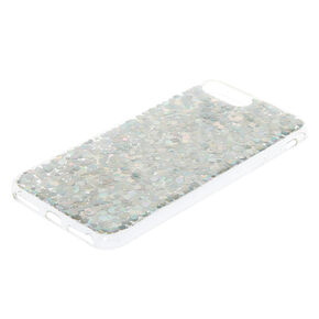 Holographic Glitter Phone Case - Silver,