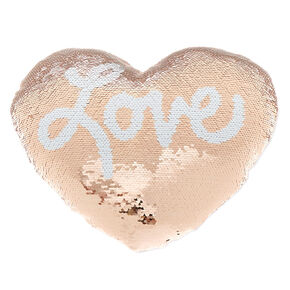 Reversible Sequin Love Pillow,