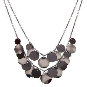 Shaky Disc Multi Strand Necklace - Black,