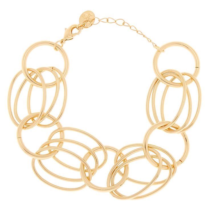 Gold Layered Link Chain Bracelet,