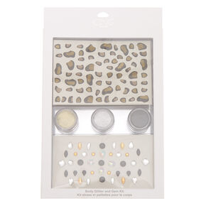 Leopard Body Glitter & Gem Kit,