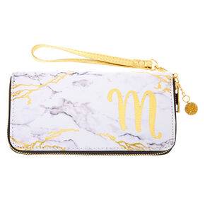 Marble Initial Wristlet - M,