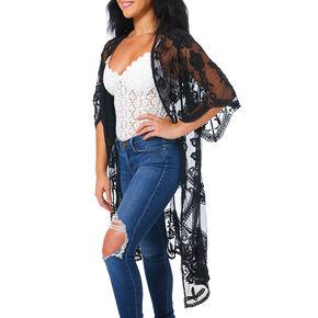 Lace Kimono - Black,
