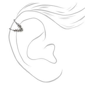 Silver Crystal Arrow Faux Tragus Earring,