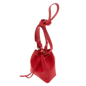 Bucket Crossbody Bag - Red,