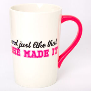 She Made It 2020 Graduation Ceramic Mug - White,
