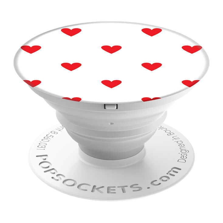 PopSockets PopGrip - Red Hearts,