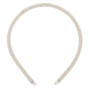 Silver Rhinestone Headband,