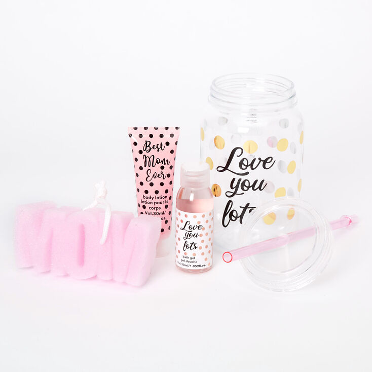 Love You Lots Mason Jar Tumbler Bath Set,