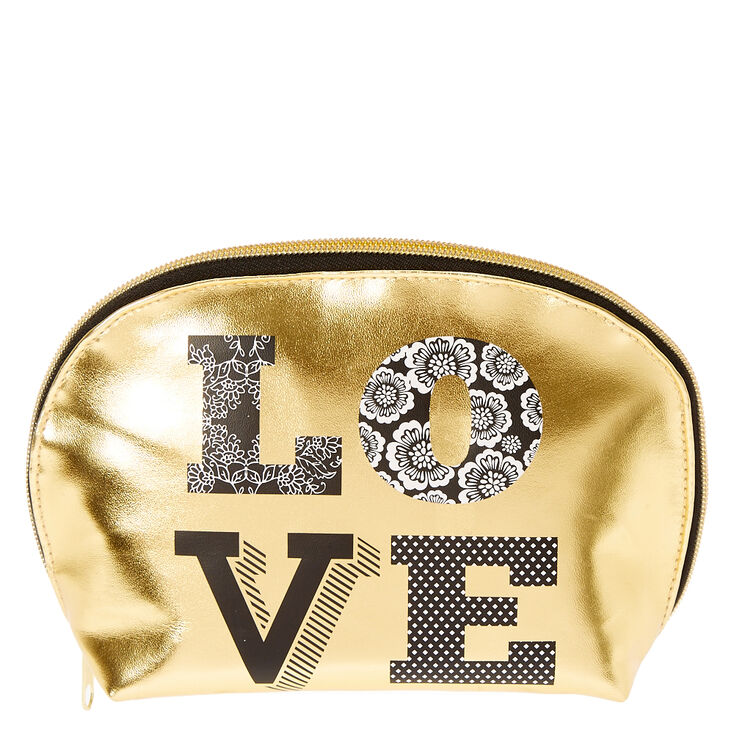 Gold & Black LOVE Cosmetic bag,