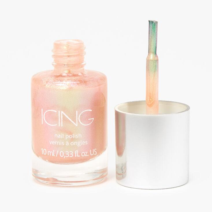 Shimmer Nail Polish - Orangey Rose Gold,