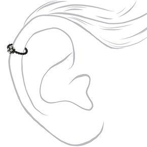 Black 16G Twisted Helix Hoop Earring,