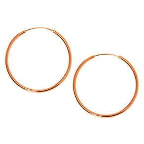 18kt Rose Gold Plated 20MM Hoop Earrings,