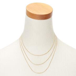Gold Cord Multi Strand Necklace,