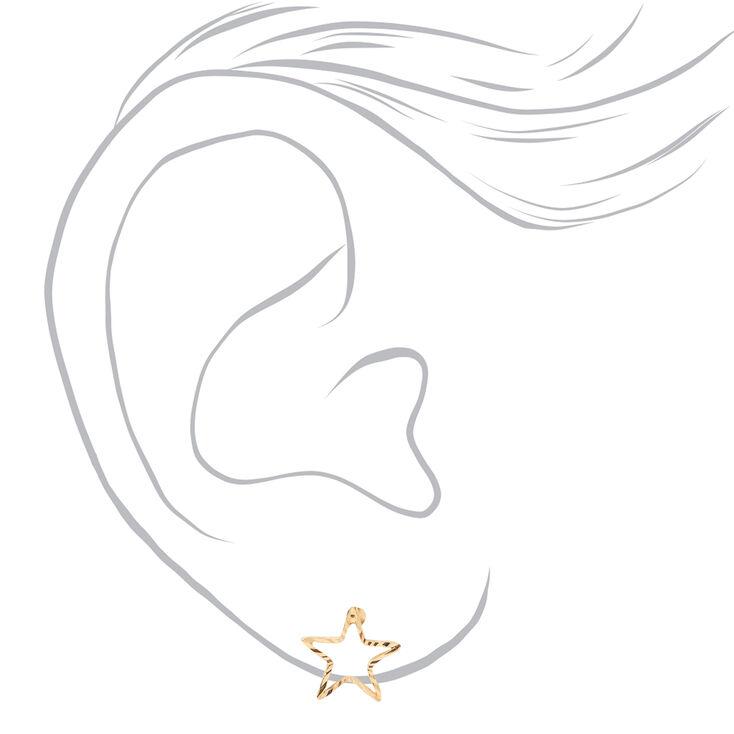 Mixed Metal Basic Celestial Stud Earrings - 9 Pack,