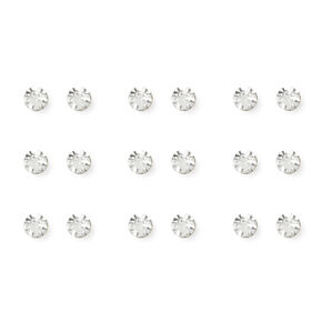 3MM Bezel Set Crystal Studs Set of 9,