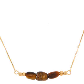 Tiger Eye Quartz Prosperity Pendant Necklace,